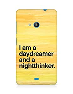 AMEZ daydreamer and night thinker Back Cover For Microsoft Lumia 535