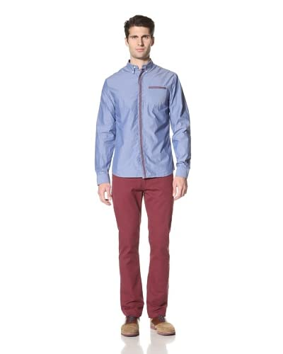 Burkman Bros Men's Selvedge Shirt  [Blue]