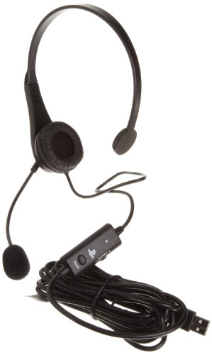 Amazonbasics Playstation 3 Wired Usb Chat Headset (Officially Licensed By Sony)