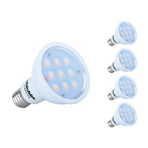 Chichinlighting® 4-Pack Led E17 R14 Bulb R14 Light Bulb Brighter Than 25W Halogen R14 Bulb Day White Cool White 6000K