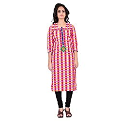 Karan Creation Women's Cotton A-Line Kurta (r67_Maroon_Small)