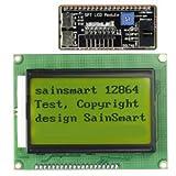 サインスマート(SainSmart)128x64 LCD液晶モジュール For Arduino UNO R3 Duemilanove MEGA2560 MEGA1280 AVR 黄色発光