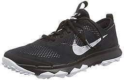 Nike 776121-00211 FI Bermuda Mens Golf Shoes, Black & White - 11 Medium