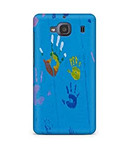 Amez designer printed 3d premium high quality back case cover for Xiaomi Redmi 2S (Children hand paintings)
