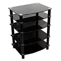 Hot Sale Walker Edison Multi-Level Component Stand, Black