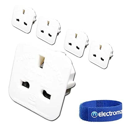 5 Pack of UK to USA / Canada Travel Adaptor