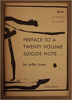 An introduction to the preface to a twenty volume suicide note