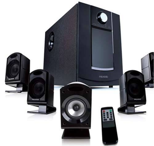 Microlab M-860 Aktivbox 5.1 Multimedia Lautsprechersystem (62 Watt) schwarz