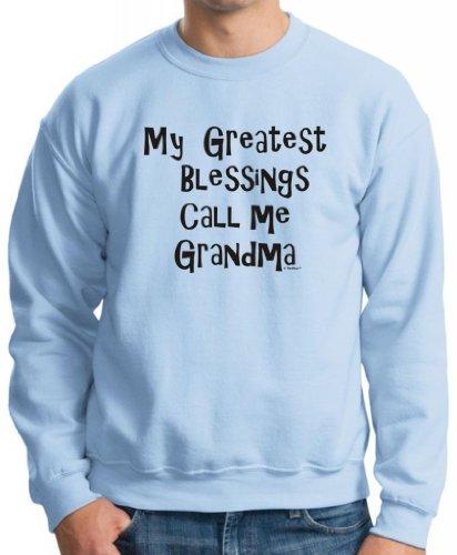 My Greatest Blessings Call Me Grandma Crewneck Sweatshirt 2Xl Light Blue front-634708