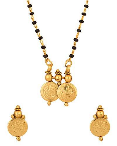 Voylla Sober Single Chain Coin Collection Mangalsutra Set available at Amazon for Rs.125