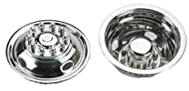 White Knight (42-1610) 16″ Stainless Steel Snap-On Wheel Simulator, (Set of 4)