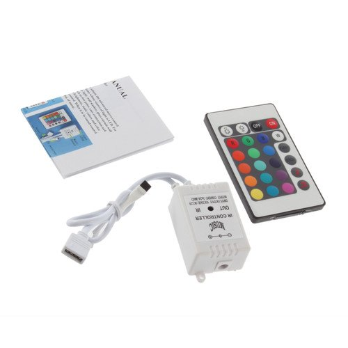 Supernight (Tm) 24 Key Button Wireless Rgb Led Light Controller Ir Remote 12V