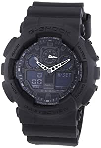 Casio - GA-100-1A1ER - G-shock - Montre Homme - Quartz Analogique et Digitale - Cadran Noir - Bracelet en Résine Noir