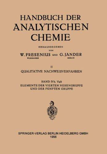 Elemente Der Vierten Nebengruppe und Der Fünften Gruppe: Titan · zirkonium · Hafnium · Thorium · Stickstoff · Phosphor · Arsen · Antimon · Wismut · ... Chemie   Handbook of Analytical Chemistry)