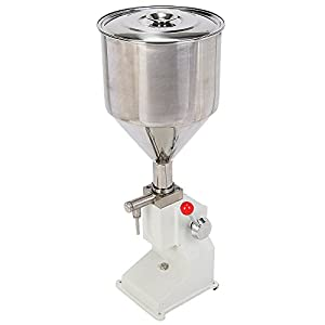 IToolPlus Manual Liquid Filling Machine 5~50ml For Cream Shampoo Cosmetic Filler Stainless Steel 10 kg Hopper Capacity A03 by IToolPlus