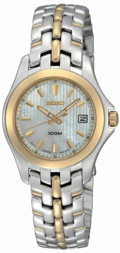 Seiko Women'S Sxdb88 Dress Two-Tone Solid Stainless-Steel Case And Bracelet White Mother-Of-Pearl Dial Watch