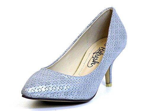 Donna scarpa décolleté argento, (silber) 62055 PLATA