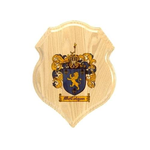 Amazon.com : Mccolgan Coat of Arms Plaque / Family Crest Plaque