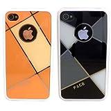 2つセットでお得 iPhone4/4S用ケース W-Face#2