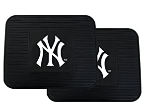 A Set of 2 MLB Universal Fit Rear All-Weather Utility Floor Mats - New York Yankees