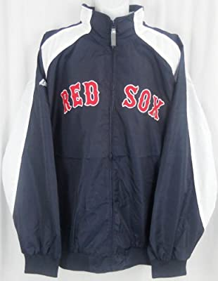 Boston Red Sox MLB Majestic Textured Full Zip Navy Jacket Big & Tall Sizes