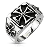 Stainless Steel Triple Celtic Cross Cast Ring - Size : US = 13 , 69.7 mm, UK = Z+1