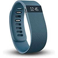 Fitbit Charge Wireless Activity & Sleep Small Wristband with Watch Display (Blue) - Refurbished