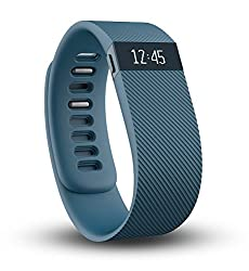 Fitbit Charge Wireless Activity Tracker and Sleep Wristband, Small (Slate)