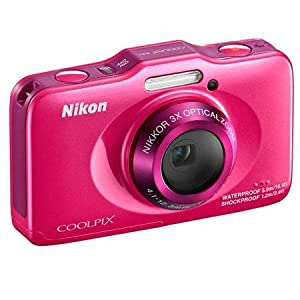 Nikon COOLPIX S31 10.1 MP Waterproof Digital Camera with 720p HD Video (Pink)