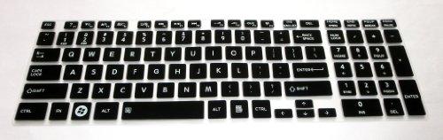 Bingobuy® Semi-Black Backlit High Quality Silicone Keyboard Protector Skin Cover For Toshiba Satellite L850, L850D, L855, L855D, L875, L875D, L955, L955D, S855, S855D, S875, S875D, S955, S955D, S50-A, S50T-A, S50D-A, S50Dt-A, S55-A, S55T-A, S75-A, S75D-A,