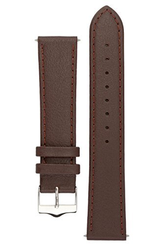 signature-seasons-in-brown-20-mm-watch-band-replacement-watch-strap-genuine-leather-silver-buckle