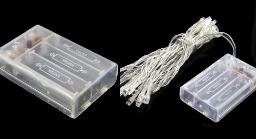 Battery Powered 30-Led 2-Mode String Fairy Lights Christmas Lights (3M)-30-Led, White Light, 3M - (Premium Quality)