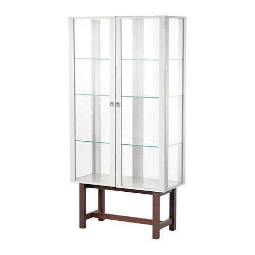IKEA(イケア) STOCKHOLM ガラス扉キャビネット, ベージュ (30239731)