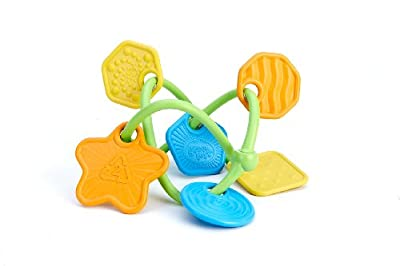 Green Toys My First Green Toys Twist Teether with 6 colorful, uniquely textured charms 0+ months (a) by Green Toys Inc