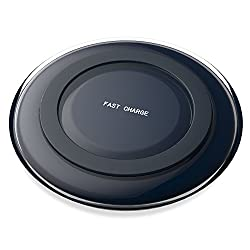 MoKo Fast Charge Qi Wireless Charger Charging Pad for Samsung Galaxy Note 5 / S6 Edge+ / S7 / S7 Edge, and All Qi-Enabled Devices, BLACK