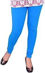 Unicraft Women's Cotton & Lycra Leggings (unicraft-011Sky)