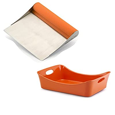 Premier Rachael Ray Scraper Shovel Spatula Set with Bonus Stoneware Lasagna Lover Baking Dish.