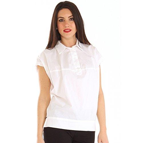 Camicia in popeline di cotone stretch con martingala