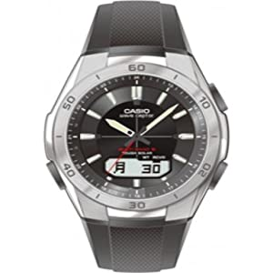 Casio Men's Solar Powered Radio Controlled Resin Strap Combi Watch WVA-M640-1AER