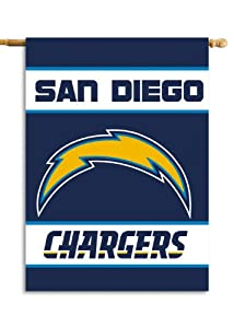 NFL San Diego Chargers 2-Sided 28-by-40-Inch House Banner by Fremont Die