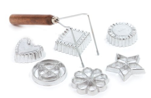 Norpro Swedish Rosette Cookie & Timbale Pastry Set 6 Molds New wood handle 3286 (Waffle Cookie Iron compare prices)