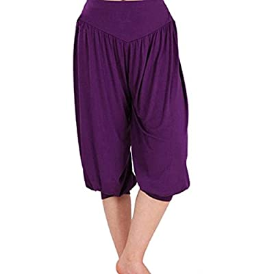 LIANTANG Womens Soft Loose Elastic Waistband Fitness Yoga Pants