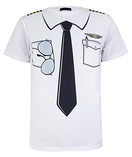 [A&J Design Men's Airman Uniform Costume 3D Printed T-shirt (XL, Pilot)] (Funny Uniform Costumes)