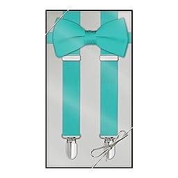 Suspender & Bow Tie Set (Kids, Tiffany Blue)
