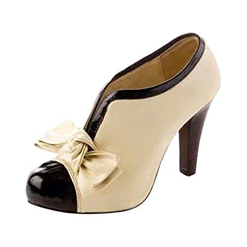 Donne Sexy Bow Pump Stiletti Piattaforma Scarpe Tacco Alto Shoes Stivali Invernali ( EU 37 )