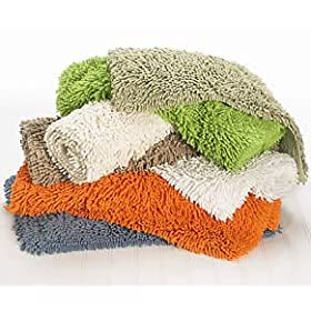 chenille high loop bath mat