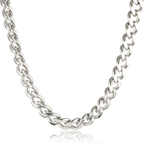 s stainless steel chunky curb link necklace 24