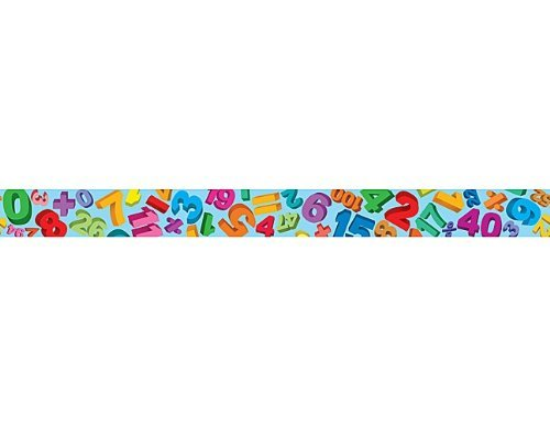 Teacher Created Resources Math Straight Border Trim, Multi Color (4681)