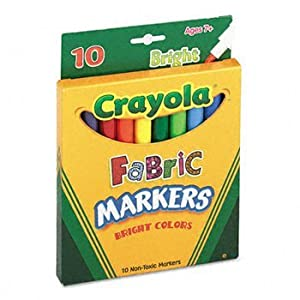 Crayola Fabric Markers 2 Packs of - 10 Markers