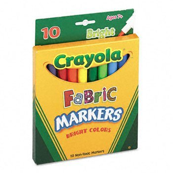 Crayola Fabric Markers 2 Packs of - 10 Markers - 1